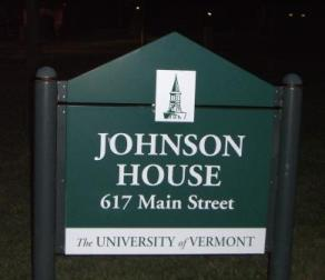 Johnson House sign