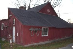 side of blacksmith shop